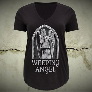 Dr. Who weeping Angel ladder sleeve top